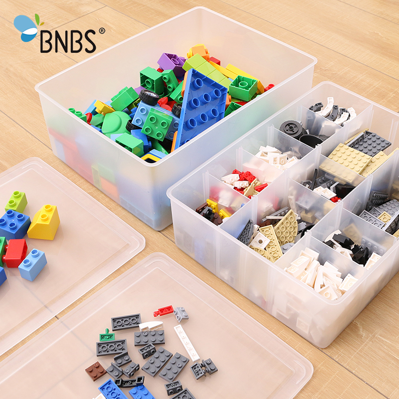 BNBS Kids Lego Solider Toys Organizer Box Building Blocks Mini Toys Storage Box With Covered Can Adjust The Storage Space
