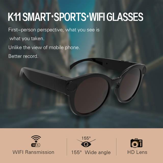 a5346b32a2741 placeholder K11 Camera Sunglasses 1080p Wifi Mini Micro Cameras  Polarized-lenses HD Sports Video Recorder Camcorder