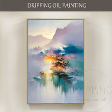 Top Artist Hand-painted Beautiful Colorful China Landscape Oil Painting on Canvas Impressionist Chinese