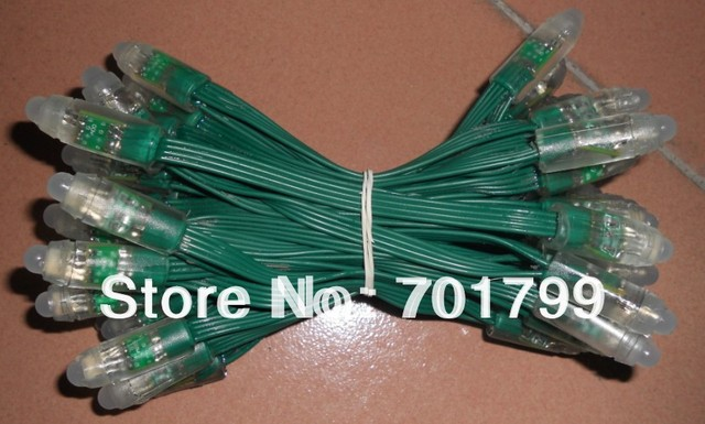 DC12V input 12mm through-hole LED channel letter;100pcs a string;with green wire