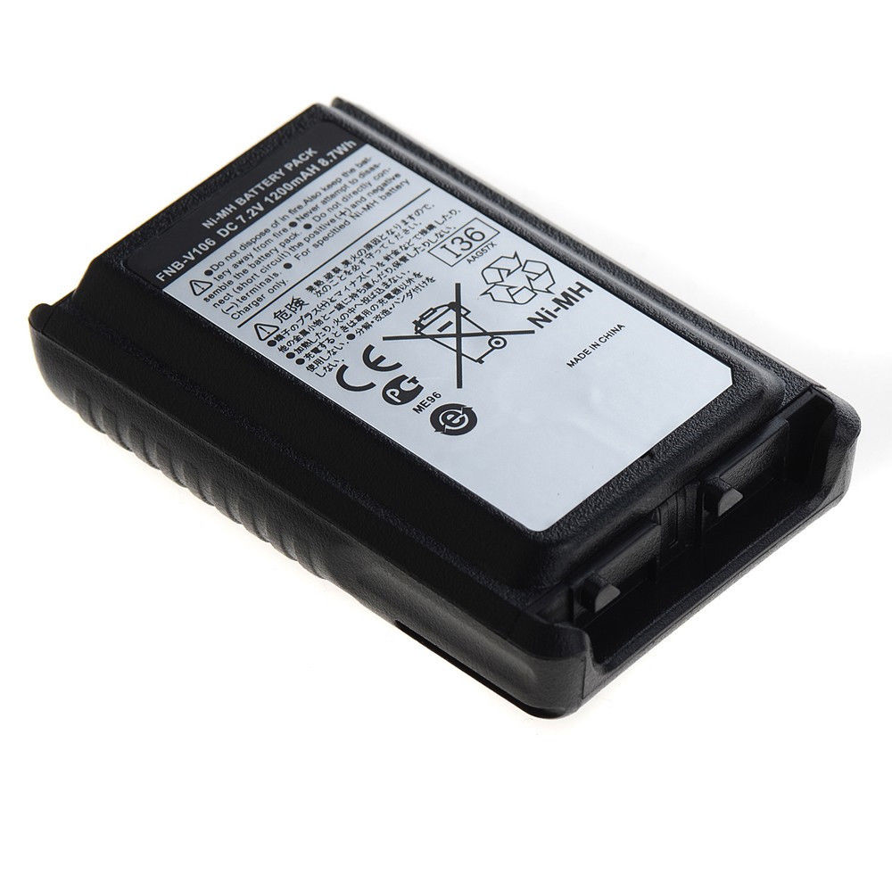FNB-V106 FNBV106 NI-MH Batterie 1200 mAh Pour Yaesu Vertex Standard VX-230 VX-231