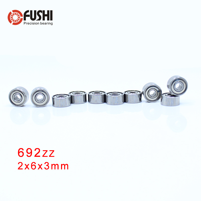 692ZZ Bearing 2*6*3 Mm ( 10 PCS ) ABEC-5 Miniature 692 Z ZZ High Precision 692z Ball Bearings