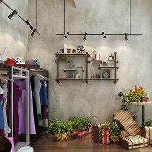 Image 4 - レトロ無地グレーセメントpvcビニール壁紙ルームバーカフェレストラン衣料品店の背景壁紙ロール