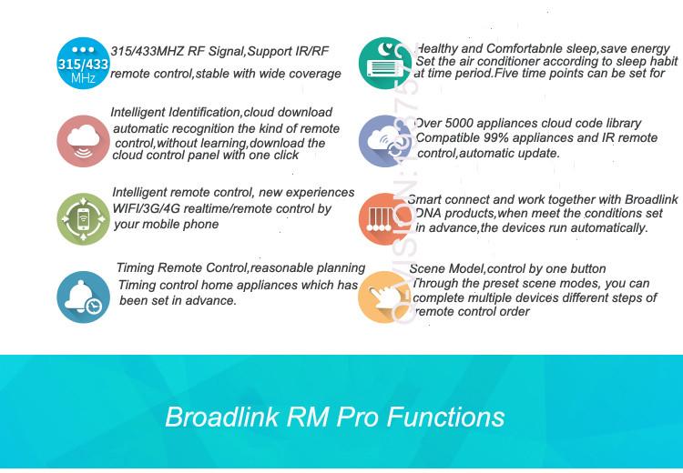 2-Broadlink RM2 RM PRO Universal Smart Wifi Remote IR RF + A1 E-Air Quality Detector Infrared Home Automation kit Sensor Smart App