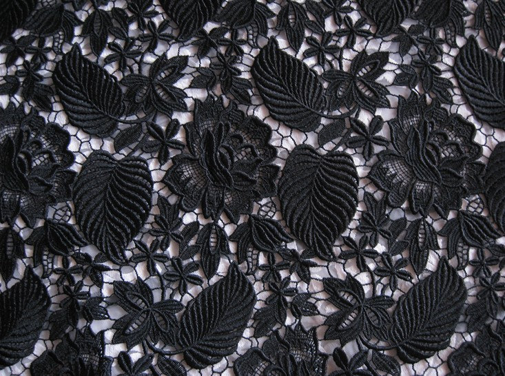 125 センチメートル幅ホット販売 Venise のレースの生地と花葉ギピュールレースの生地 Diy 手作り縫製  グループ上の ホーム&ガーデン からの 生地 の中 1
