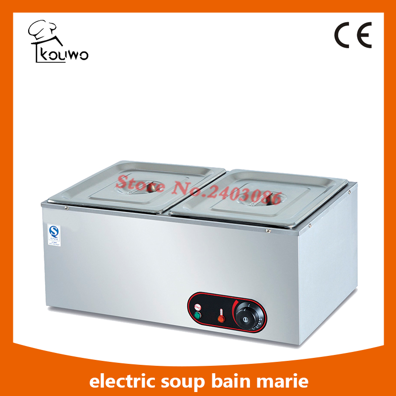 Commercial table counter top catering kitchen Equipment Electric stainless steel 2 Pans food warmer Bain Marie for sale