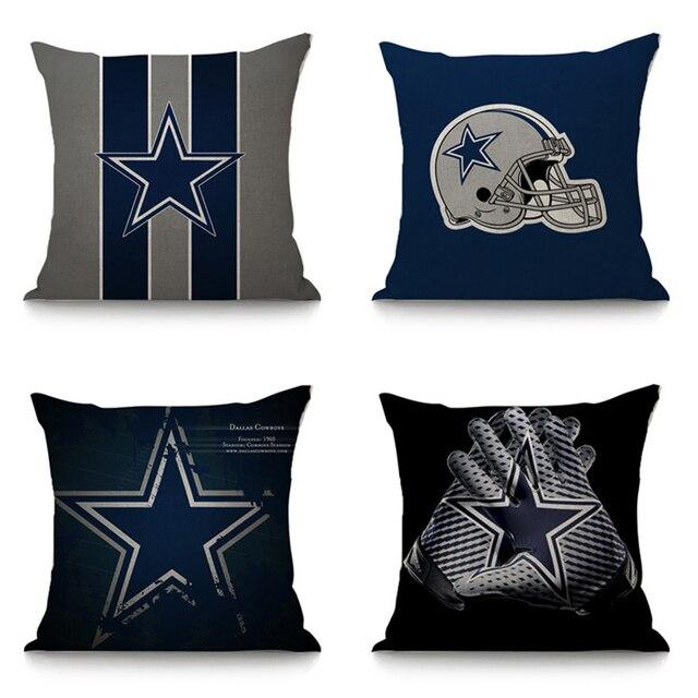 The seat cushion for sofa car decorative linen cotton cushion dallas  cowboys print throw pillow 45x45 cm home decor b83eff4cc