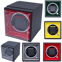 Free Shipping 1Pc 5 Colors PU Leather Auto Silent Watch Winder Box Storage Case Watch Display