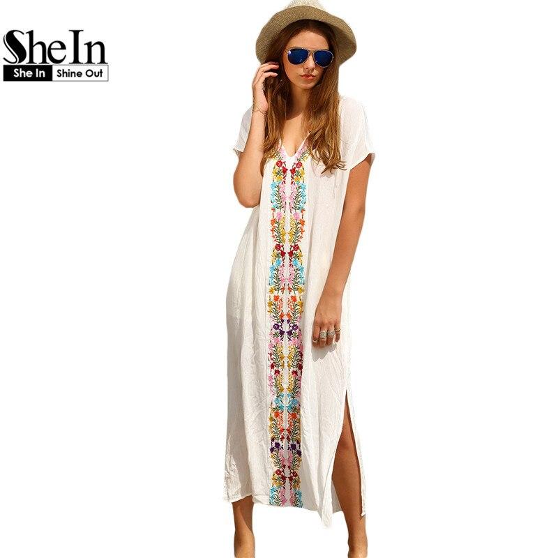 Белые пляжные платья длинные купить