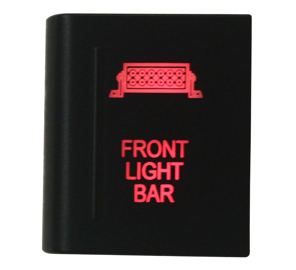 Amber Red LED ON-OFF Push Switch FRONT LIGHT BAR For Volkswagen Amarok Left Side