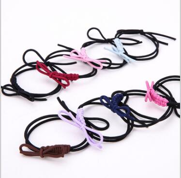 Free Shipping,2016 New High Quality 20pcs/lot Women Girl braid bowknot Hair Accessary Hair Bands Elastic Ties Ponytail Holder