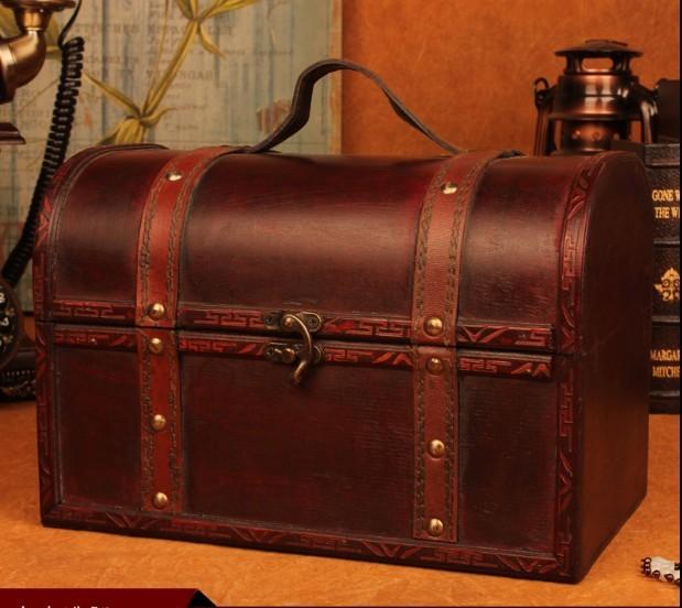 New desktop book decorated wooden jewelry box princess storage box wooden European style wooden box