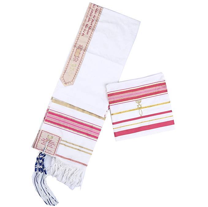 Muslim Prayer Hijab Jewish New Covenant Prayer Shawl Long Hijabs Tallit with Matching Bag