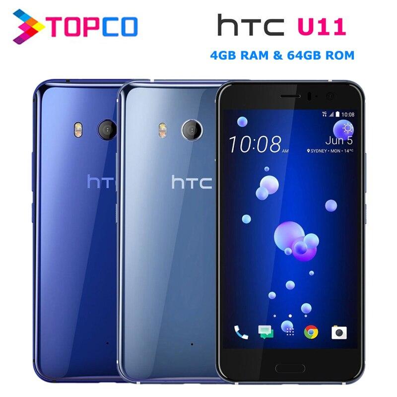 "HTC U11 Dual 64GB Original Unlocked GSM 3G&4G Android Mobile Phone Octa Core 5.5"" 12MP&16MP 4GB RAM 64GB ROM Fingerprint NFC(China)"