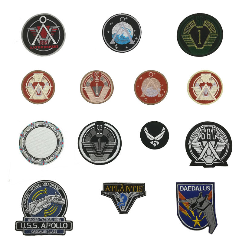 Stargate SG1 Logo Project Earth /& Airforce Wings Embroidered Uniform Patch Set