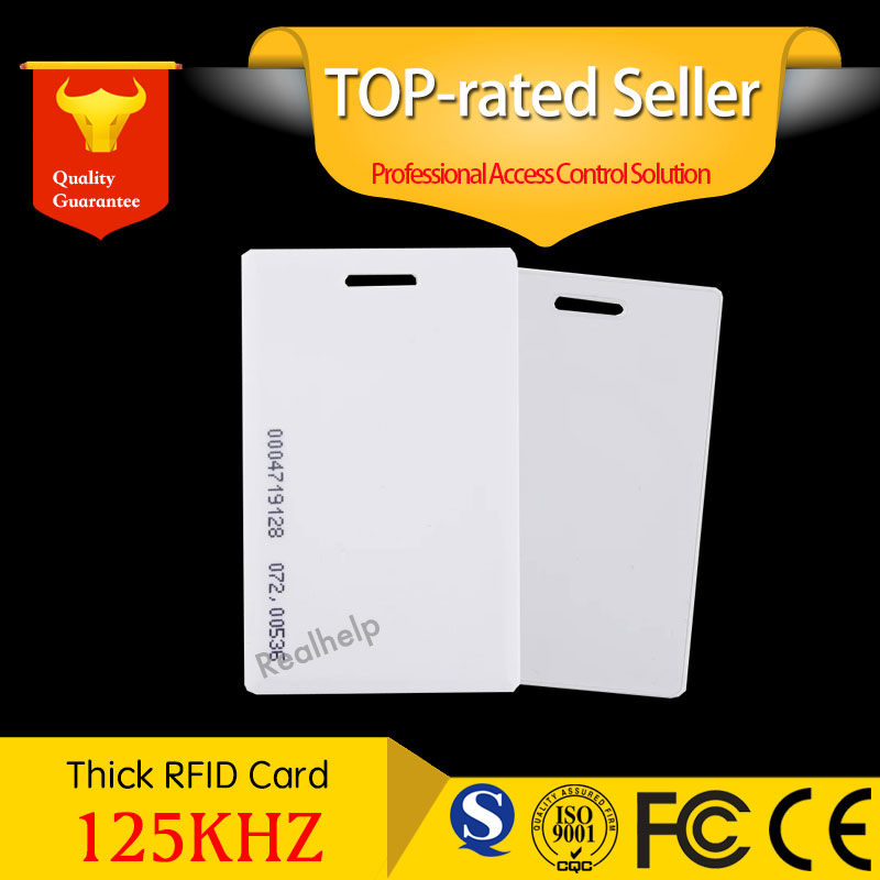 RFID EM Thick card 125khz clamshell contactless rfid Proximity ID Cards EM4100 Thick 1.2mm Safe Access Control Keypad Entry Door usb 125khz em4100 rfid proximity reader 5 cards 5 key tags 5 dia card