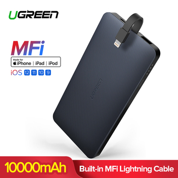 Ugreen 10000mAh Power Bank For iPhone X Xiaomi Portable External Battery Charger For Mobile Phone Tablet For Lightning Poverbank