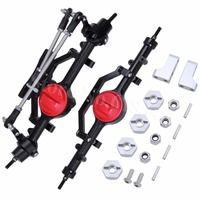 Aluminum Axle Complete Set Front And Rear CNC for RC4WD D90 Yota II RC Crawler Car Replacement
