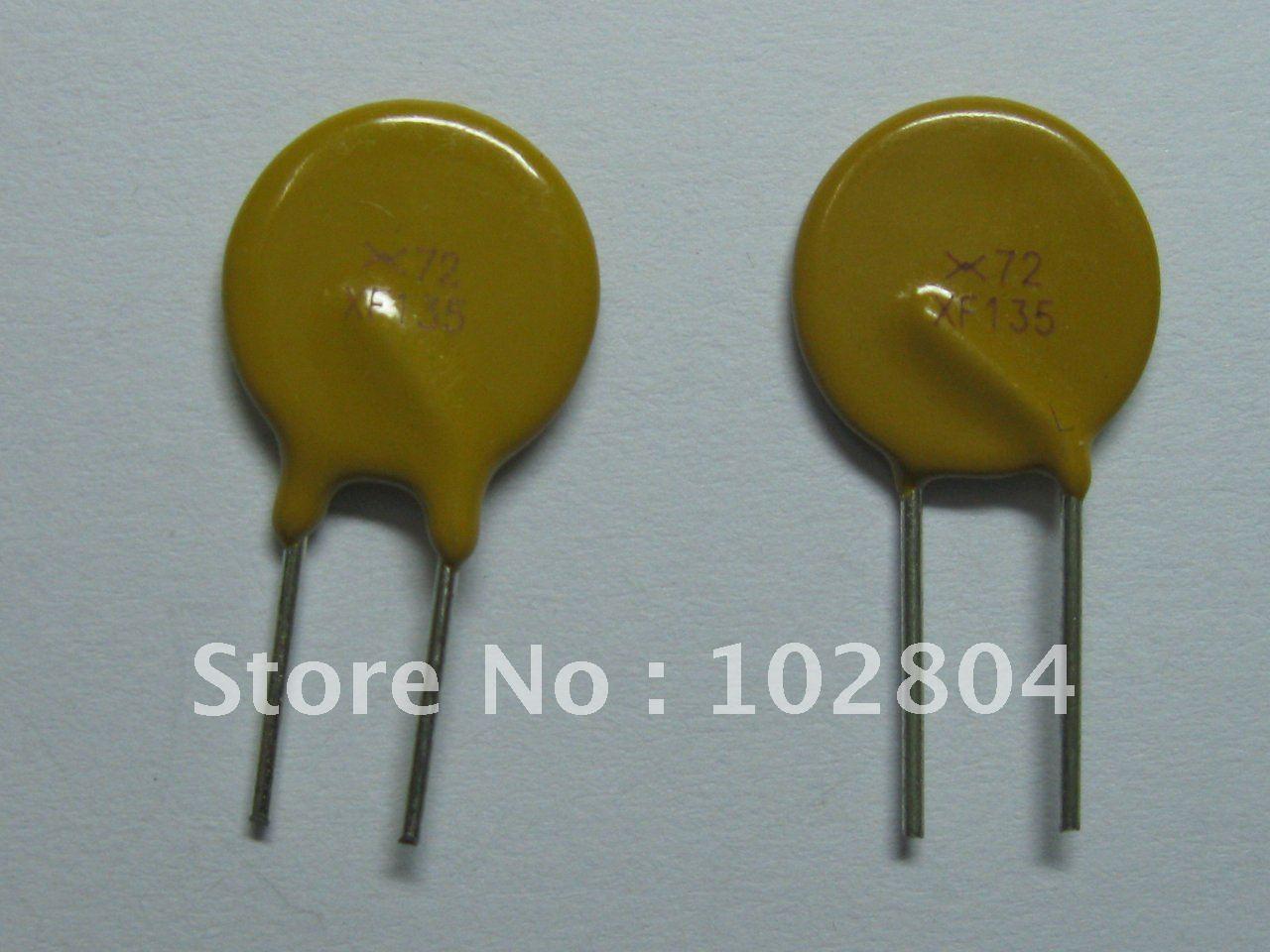 200 шт. 72 в 1.35A полипереключатель радиальный этилированный PPTC сбрасываемый предохранитель