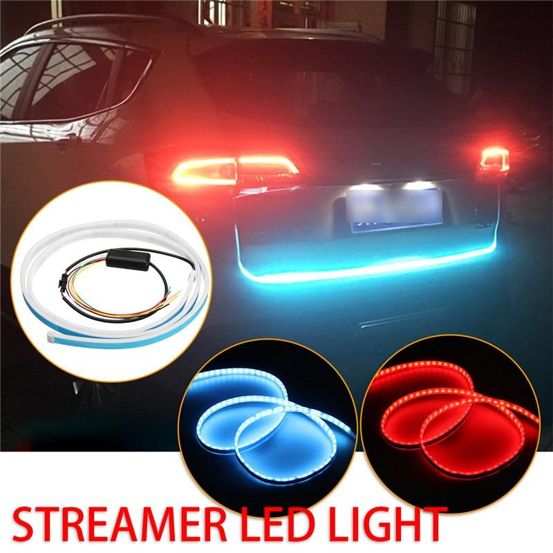 Wasserdichte 1,5 mt 196 LED Auto Heckklappe 3020 Led-streifen DC12V Bremse Hinten Fahren Lampe Schwanz Box Blau Rot 10 Watt