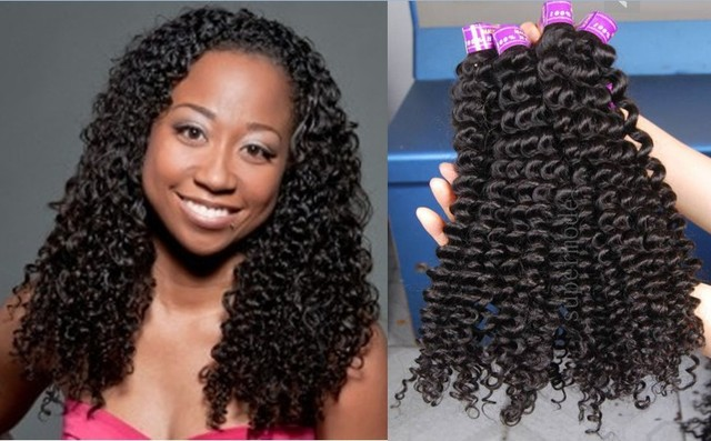 Jerry Curl Weave Hairstyles Malaysian Deep Curly Raw Human