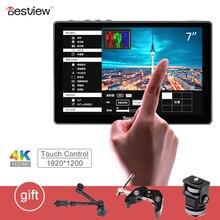 """התצוגה הטובה ביותר R7 7 """"7 אינץ תצוגת 4K HDMI צג LCD מגע בקרת מסך צג על מצלמה שדה DSLR צג עבור וידאו מצלמות"""
