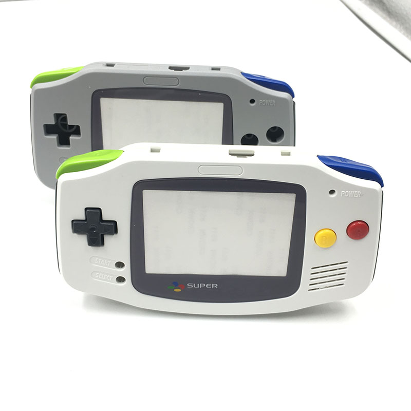 Grey White For Nintendo Game Boy Advance Replacement Housing Shell Screen For GBA