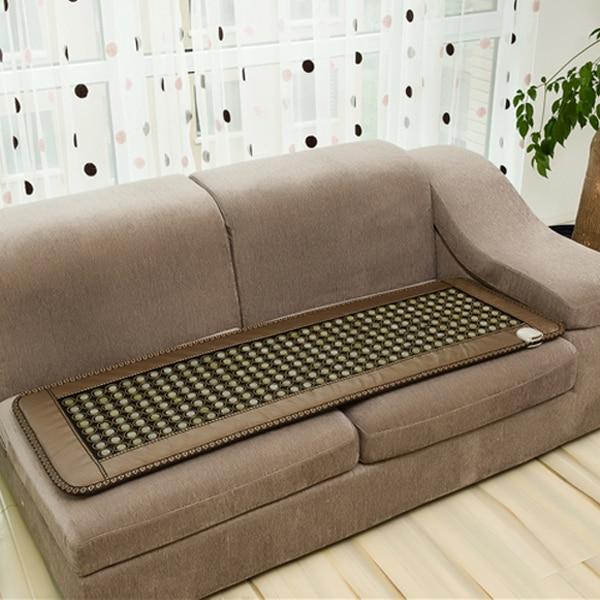 Thermal jade health mattress germanium tourmaline Photon mattress therapy electric heated stone mattress 50cmX150cm