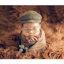 Реквизит для фотосессии новорожденных; Костюм Джентльмена для создания ребенка; шляпа для мальчиков и девочек; очки для младенцев; аксессуары для студии «сделай сам»