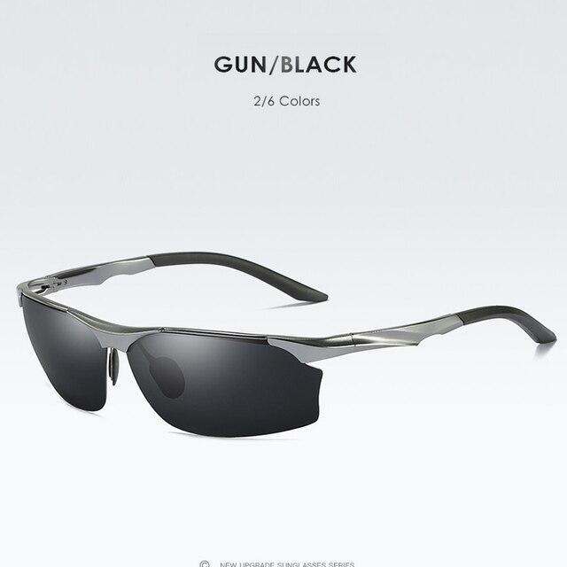 CoolPandas Police men's aluminum-magnesium polarized sunglasses drivers night vision goggles anti-glare polaroid Driving Glasses