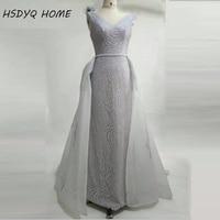 Hot Stijl Sequin Mermaid Avond Prom Dresses V-hals Verwijderen Prom dress Nieuwe Collectie avondjurk Arabische Feestjurken