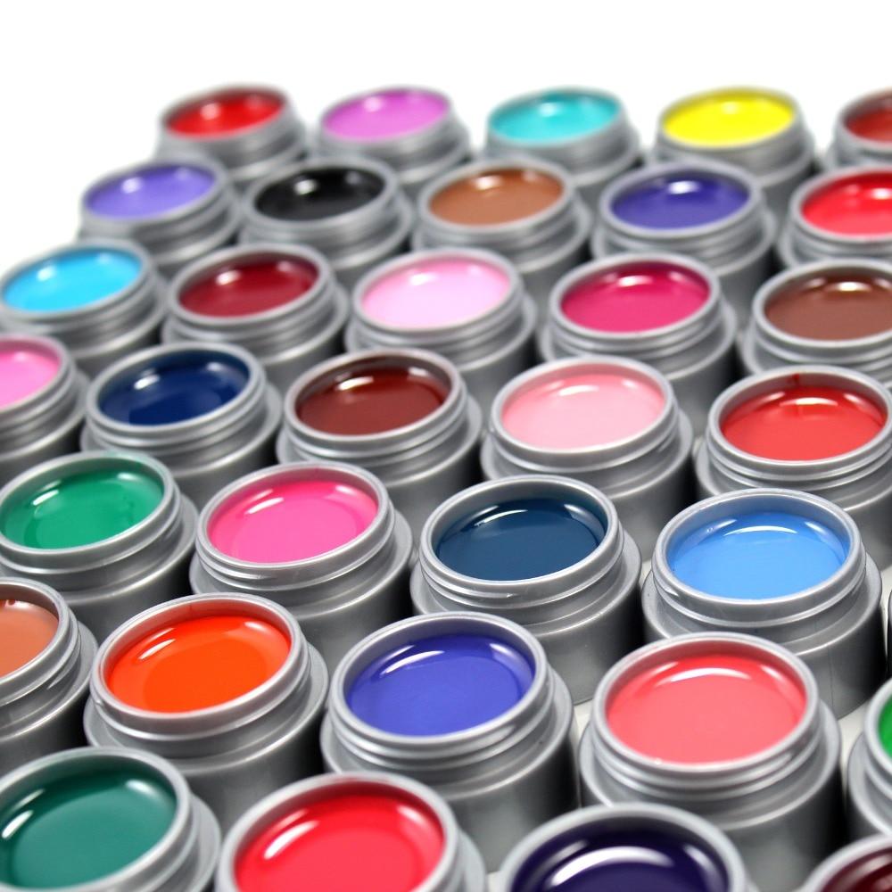 Gel Len 100st UV-färg Gel DIY Nail Art Builder Fashion Multi Colors - Nagel konst