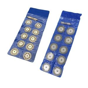 Image 3 - 10 teile/satz 22/30mm Mini Diamant Sägeblatt Silber Trennscheiben mit 2X Anschluss Schaft für Dremel Bohrer fit Dreh Werkzeug