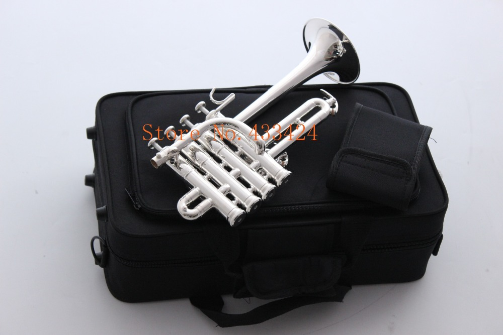Bach Soprano Piccolo trumpet Bb flat bell Top musical instruments In Brass trompete trumpeter bugle horn trompeta