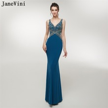 JaneVini 2018 Satin Bridesmaid Dresses Floor Length
