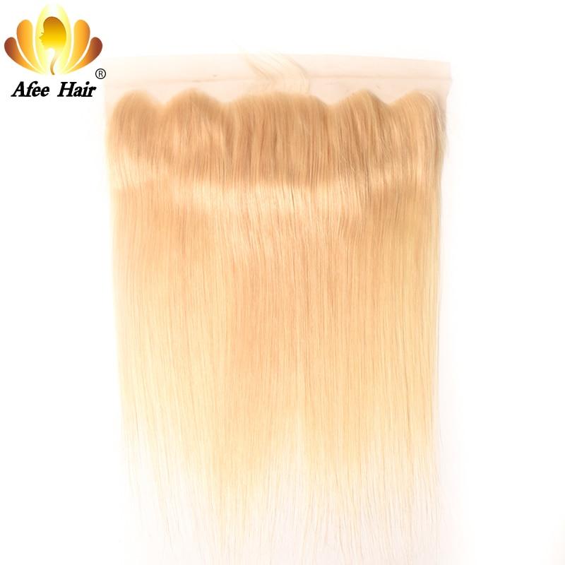 AliAfee волосы светлые 613 Фронтальная Бразильский прямо человеческих волос 13*4 с волосами младенца 130% Destiny Бесплатная доставка