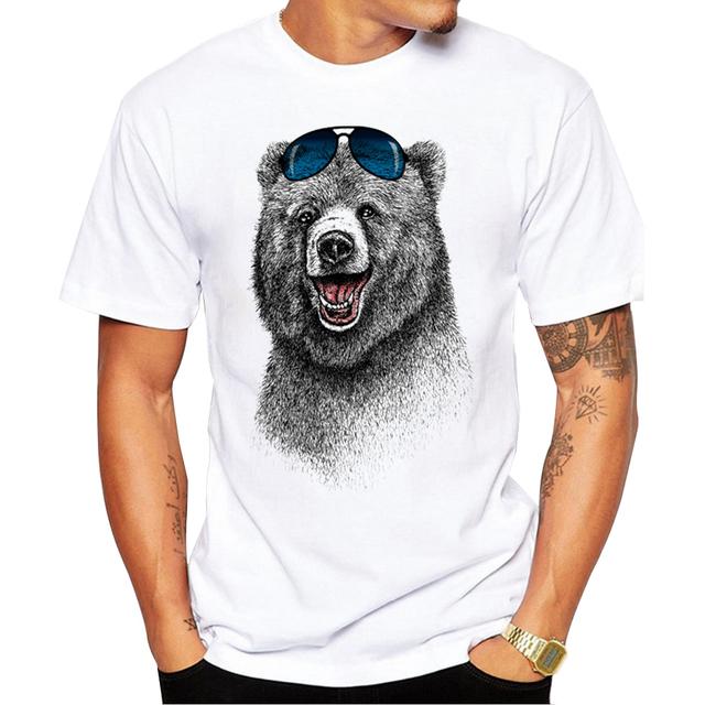 2017  Fashion Laughing Bear Men T-Shirt
