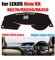Cubierta del tablero del coche para Lexus nuevo RX RX270 RX350 RX450 2009-2014 cojín del dashmat de la mano derecha cubre auto Accesorios