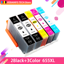new Ink Cartridges with Chip for HP 655 compatible for HP deskjet 4615 4625 CZ109AE CZ110AE CZ111AE CZ112AE Printers free shipping 2017 new [hisaint] 5 pk 920xl 2b 1c 1m 1y ink cartridges for hp series w new chip new listing