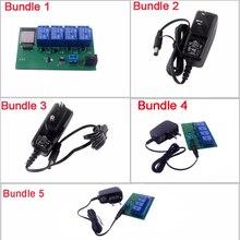 ESP32S 4 канала Wi-Fi Bluetooth сетевой релейный модуль IOT телефон приложение управление DC6V 0.6A 600mA адаптер питания США/ЕС вилка