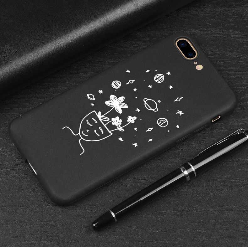 Drukuj miłość telefon etui na iPhone'a 7 8 Plus X 6s 5S SE etui do iphone 8 Plus XR XS 11Pro max matowe miękka okładka dobry prezent