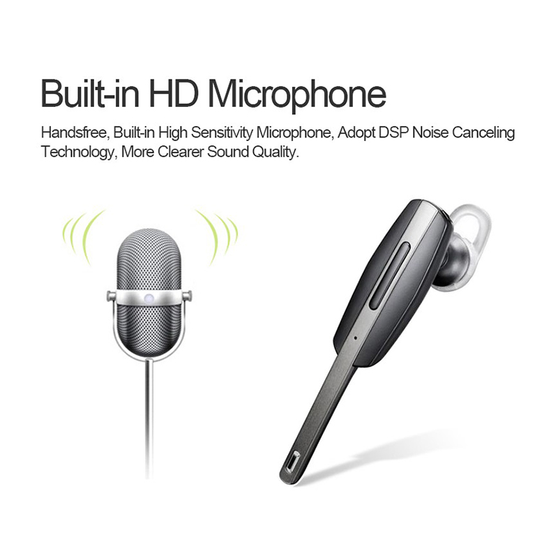 Noise Cancelling Wireless Stereo Bluetooth Headset Earphone With Microphone, Receive Phone Calls & Listen Music