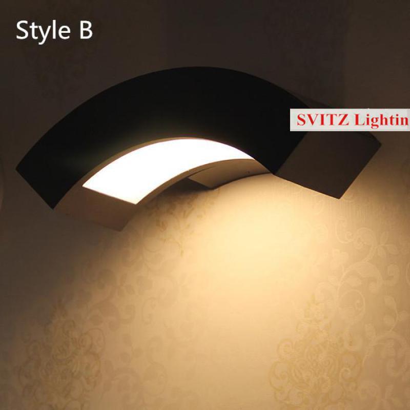 Балкон 1 шт. 12 Вт светодиодный наружный настенный светильник IP65 водонепроницаемый настенный светильник садовый светильник s наружные светильники из алюминия