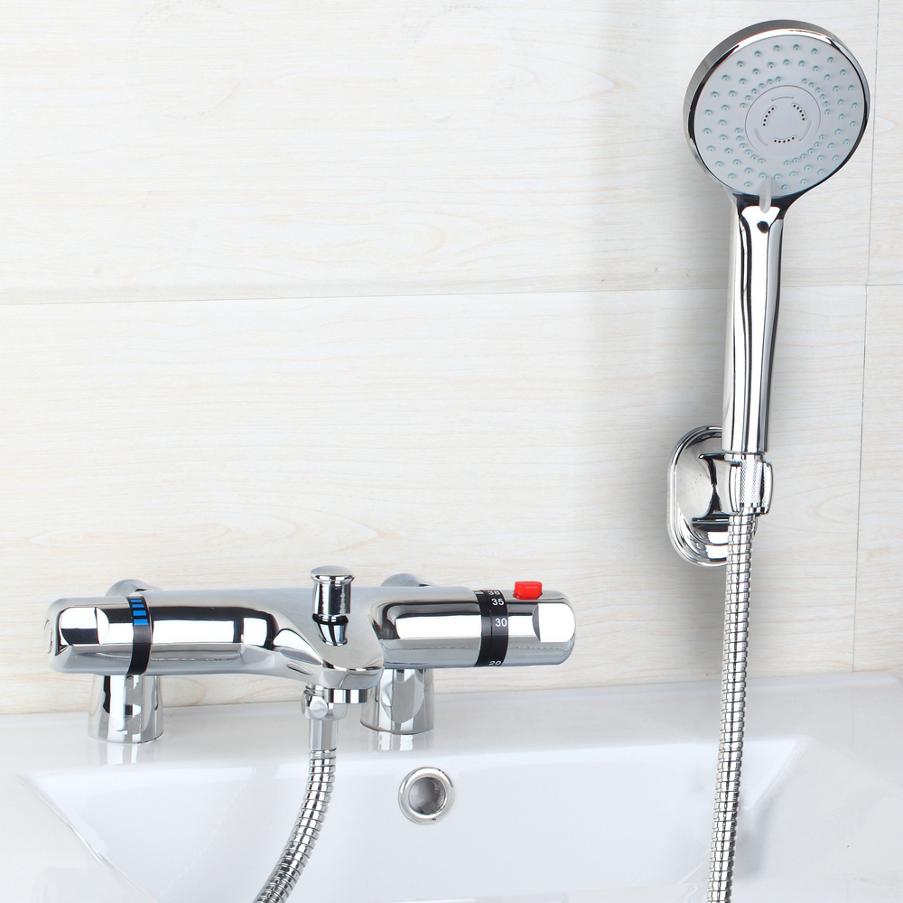 online buy wholesale modern tub faucet from china modern tub  - best deck mounted tub thermostatic faucet  modern bathroom bathtubshower faucet set with