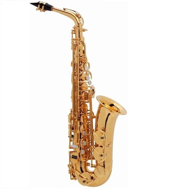 Qualité supérieure France SAS-802 New Golden Saxophone E Flat Saxophone Alto Superbe Jouant instruments de musique Embout Cadeau