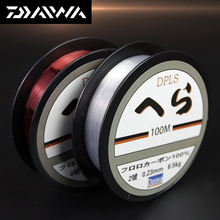 DAIWA 100M Super Strong Nylon Fishing Line 2LB - 40LB 2 Colors Japan Monofilament Fluorocarbon Fishing Line for Carp & Match daiwa 100m super strong nylon fishing line 2lb 40lb 2 colors japan monofilament fluorocarbon fishing line for carp