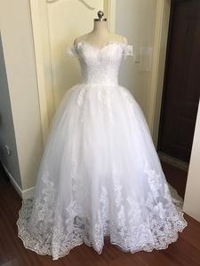 Image 2 - 2020 ślub księżniczki sukienki Vestido de Noiva Off ramię aplikacja z koronki Sweetheart suknia balowa z krynoliną suknia ślubna szata De Mariee