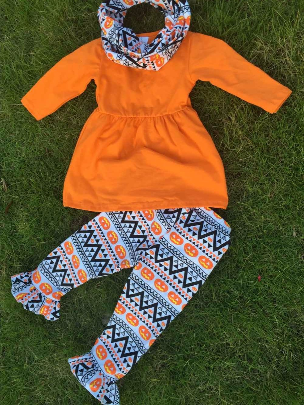 Kids Aztec Pant Orange
