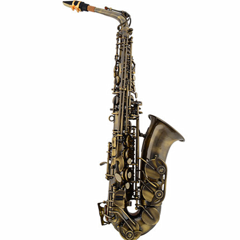 Sino-US Brand Alto Eb Falling Tune E Sax Wind Instrument Saxophone Antique Brass Saxe Professional Musical Instrument free shipping 2017 new us baja trumpet instrument lt190s 99 down b tune instrument
