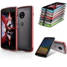 Для Motorola MOTO G5 G5 Случай Алюминиевый Бампер Случае Motorola G 5 МОТО G 5 роскошный Металлический Каркас Телефон крышка